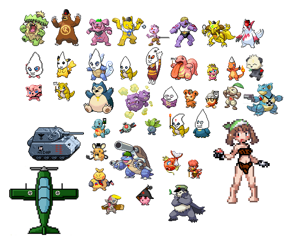 Pokemon Political Sprite Collection 1 By GeneralHelghast