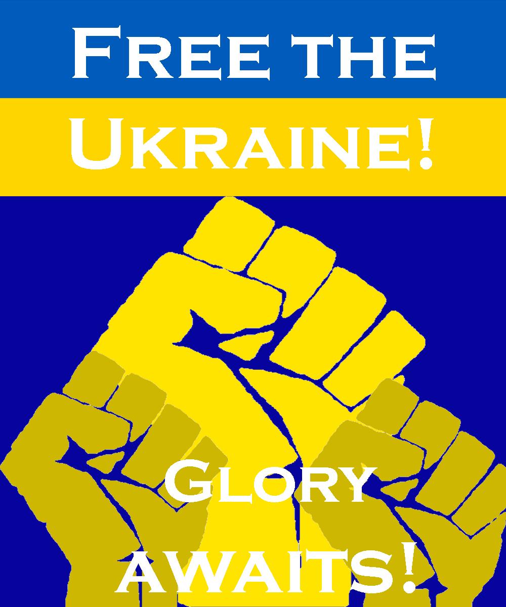 Free the Ukraine-revolutionary poster by GeneralHelghast