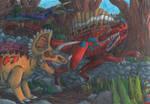 TODS: Triceratops VS Spinosaurus