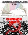 Evolution vs Communism Poster by GeneralHelghast