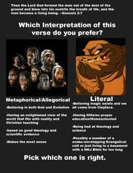 Evolution Vs Creation Genesis 2 Verse by GeneralHelghast