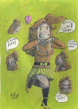 Hailey McCarthy (full body sketch)