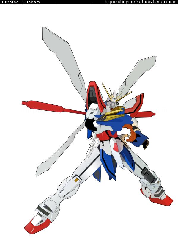 Burning Gundam by impossiblynormal