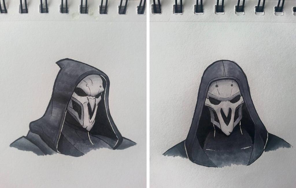Inktober #3: Reaper by PumpkinQuartz
