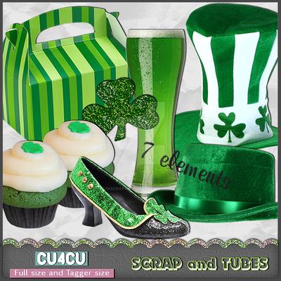 St-Patrick's Day Elements 2 (CU4CU) by ZaZaScrapAndTubes