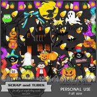 Halloween Night Kit (FS/PU) by ZaZaScrapAndTubes