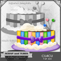 Festive Cake Template by ZaZaScrapAndTubes