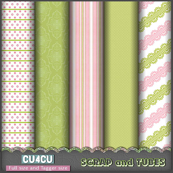 PRETTY PAPERS by Scrap and Tubes Designs by ZaZaScrapAndTubes