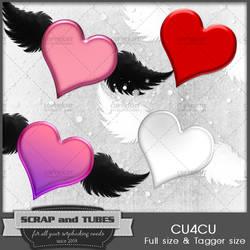 Cute Flying Hearts by ZaZaScrapAndTubes