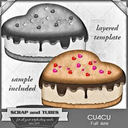 Heart Cake Template by ZaZaScrapAndTubes