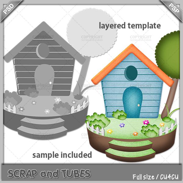Little House Template by ZaZaScrapAndTubes
