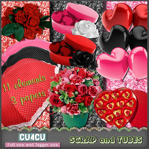 Valentine Mix by ZaZaScrapAndTubes