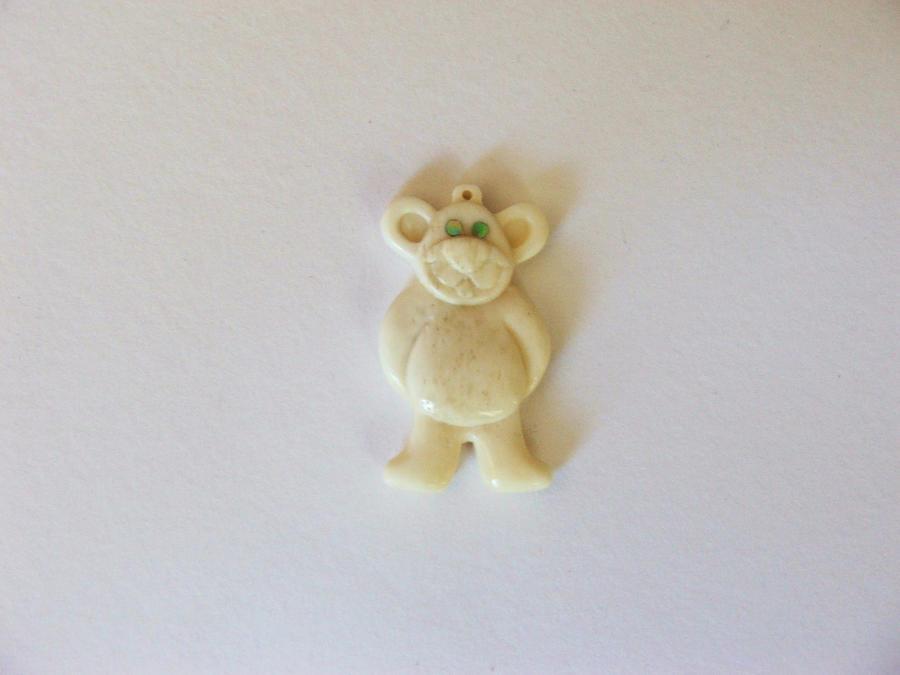 bone teddy pendant by savagewerx