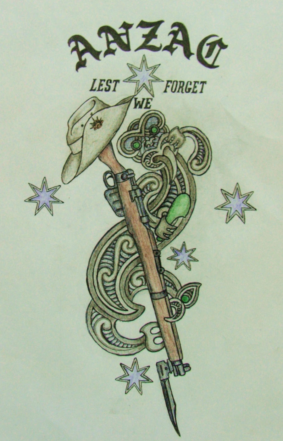 anzac tatto design by savagewerx