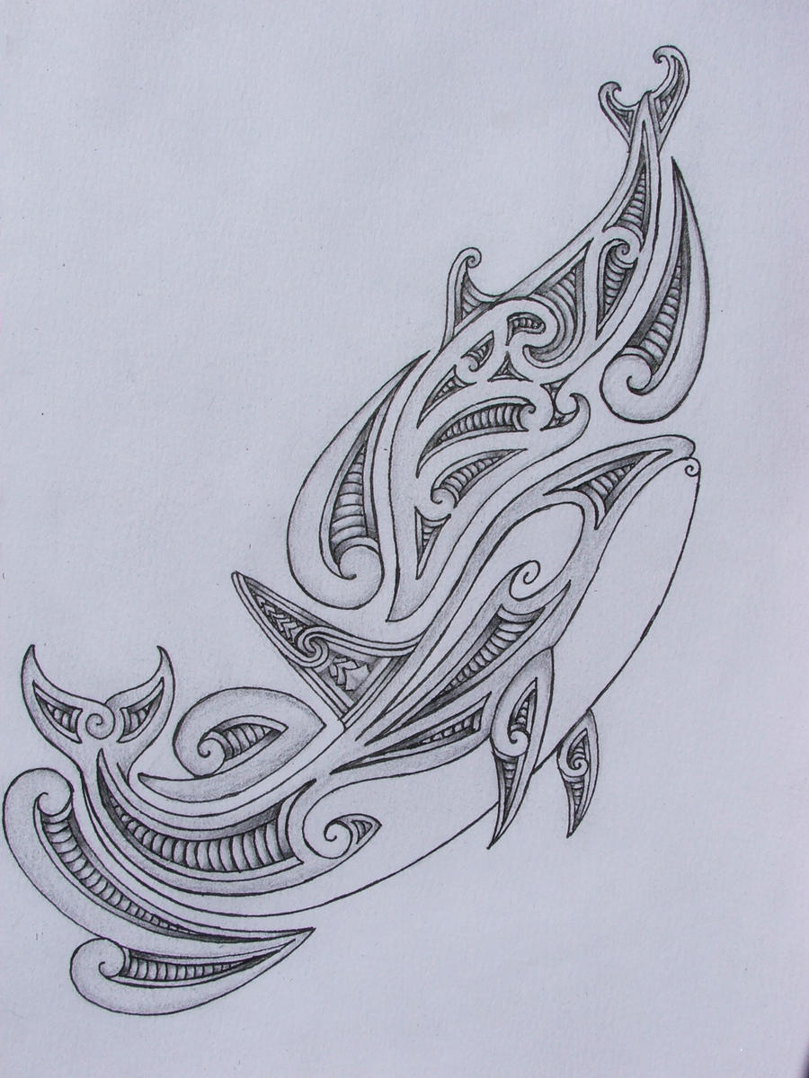 tribal orca/dolphin tattoo design by savagewerx