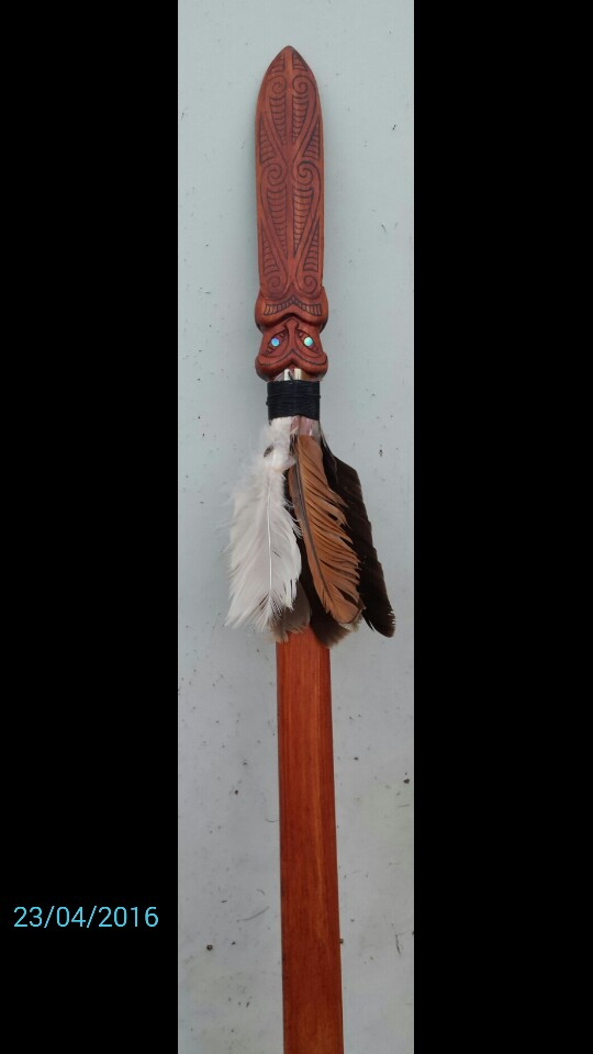 Taiaha (Maori combat weapon) by savagewerx