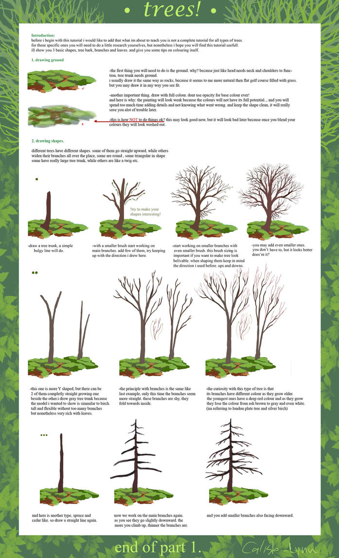 tree tutorial part 1 by calisto-lynn