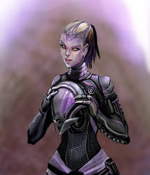 Tali without helmet by calisto-lynn