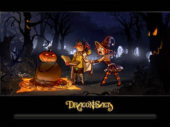 dragon saga haloween loading screen contest by calisto-lynn