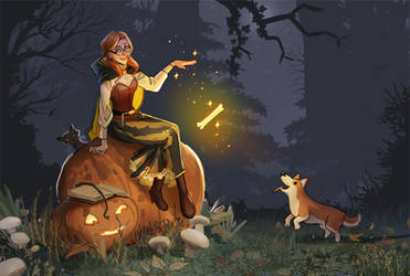 corgis and witches