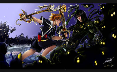 sora vs. darkness by calisto-lynn