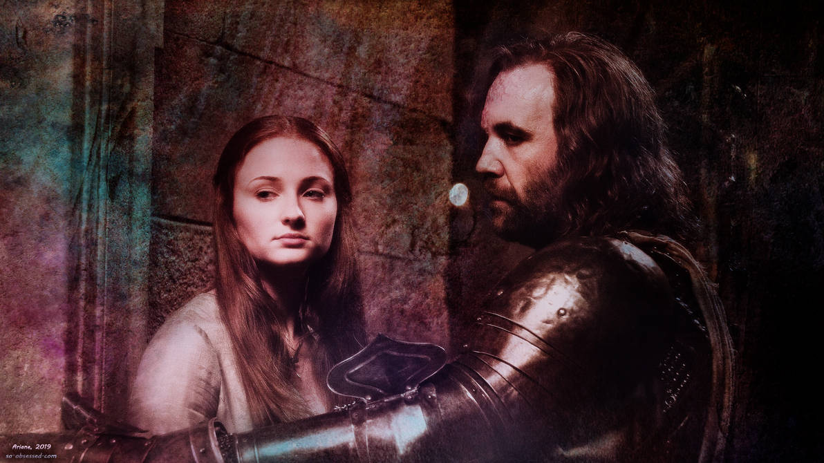 Game Of Thrones Sansa And The Hound Wallpaper By Intothisshadow