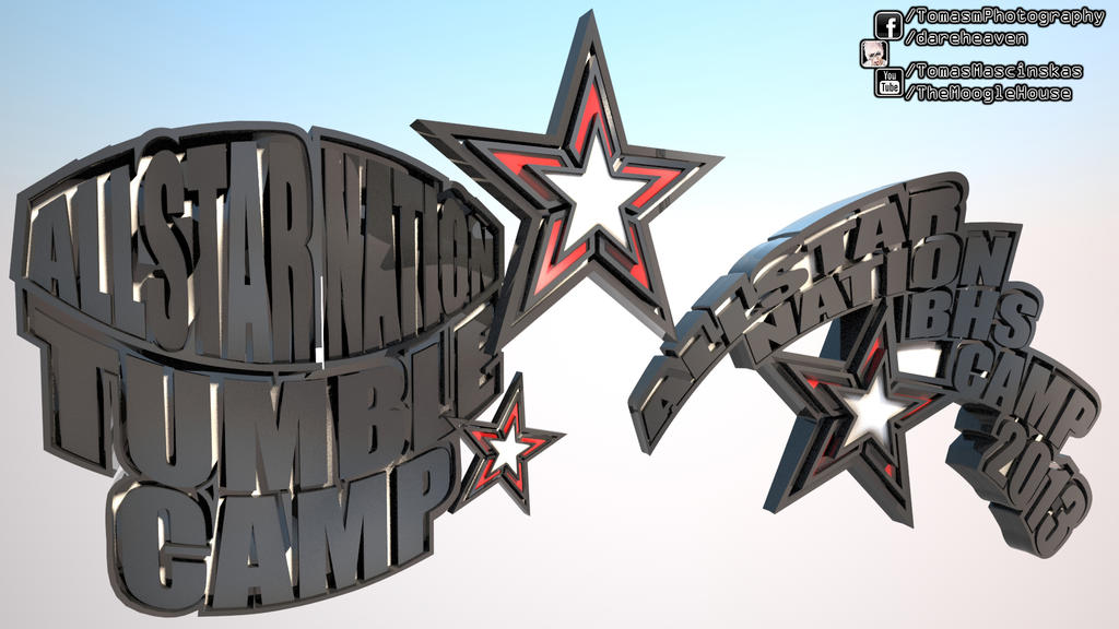 All Star Nation 3D Logo Design by TomasMascinskas