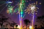 Fireworks in Thamesmead Park 2013.10.30