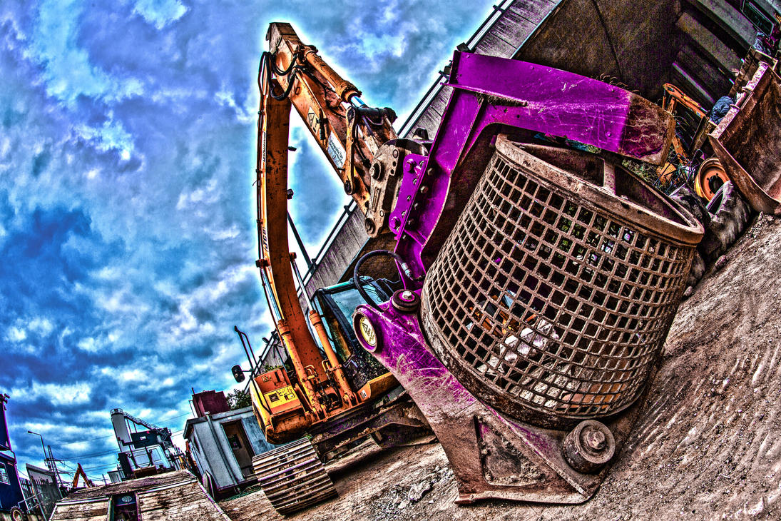 A Digger with a Spinner by TMProjection