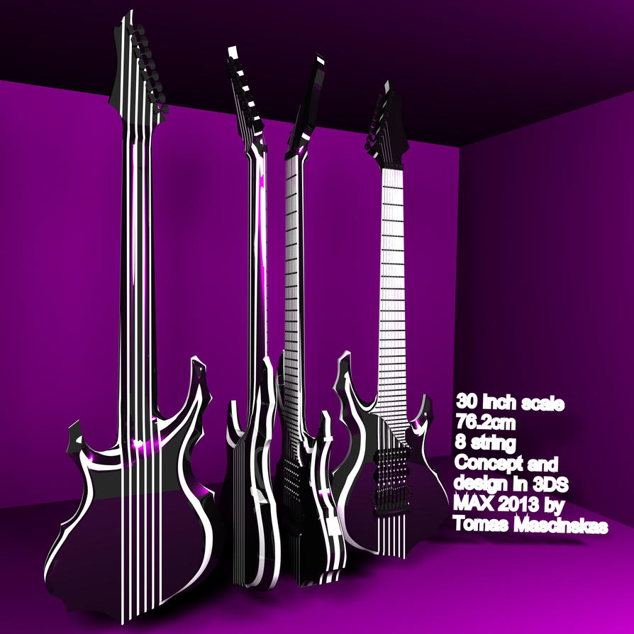 Tomas Mascinskas 8 String Signature Concept Design by TomasMascinskas