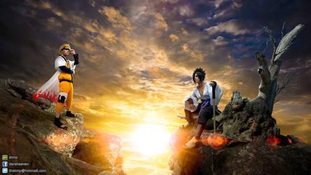 Naruto VS Sasuke Cosplay by Guy Pomnongsan by TMProjection