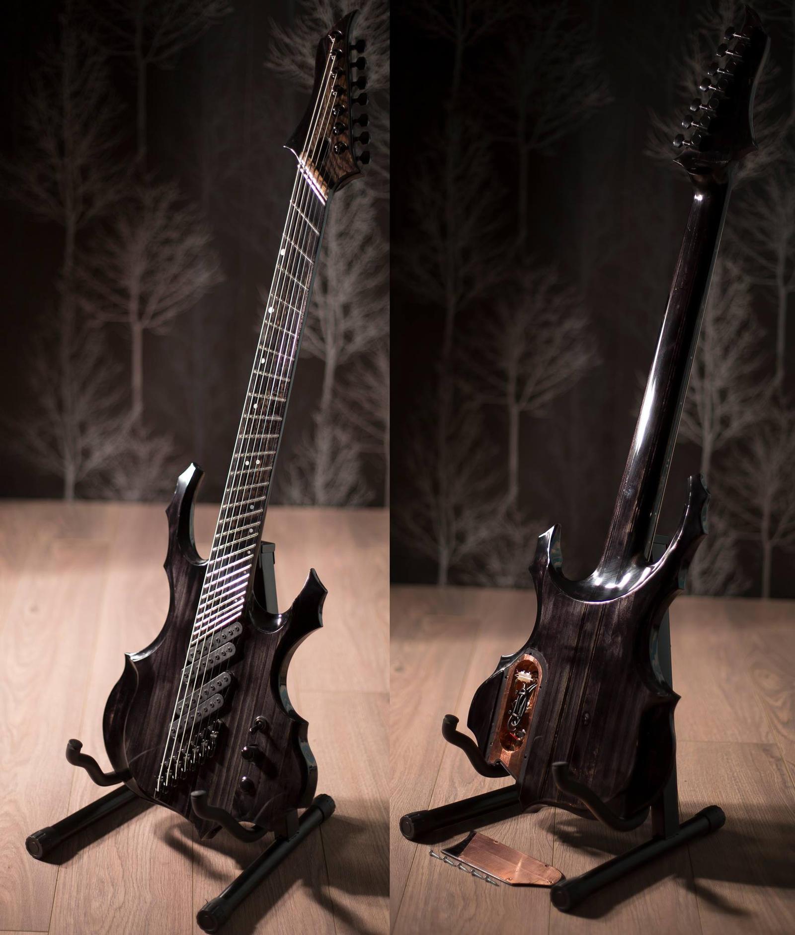 ultimega 7 string fanned fret guitar by tmprojection on deviantart. Black Bedroom Furniture Sets. Home Design Ideas