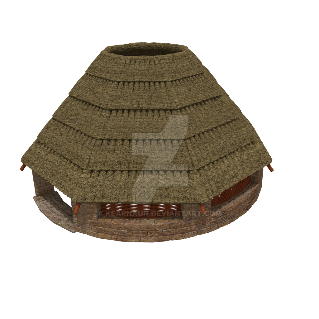 Thatched Roof Hut By Kearnaun On Deviantart