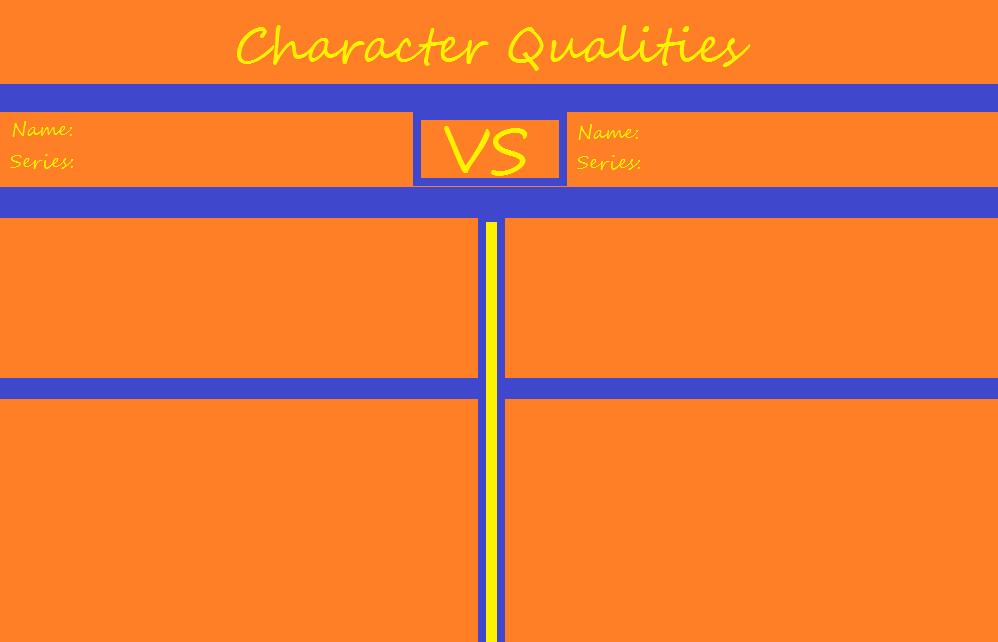 My 2nd Meme: Character Qualities by CosmicBoostPhoenixVA