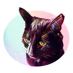 Pixie the cat by Gaz-de-la-Raz