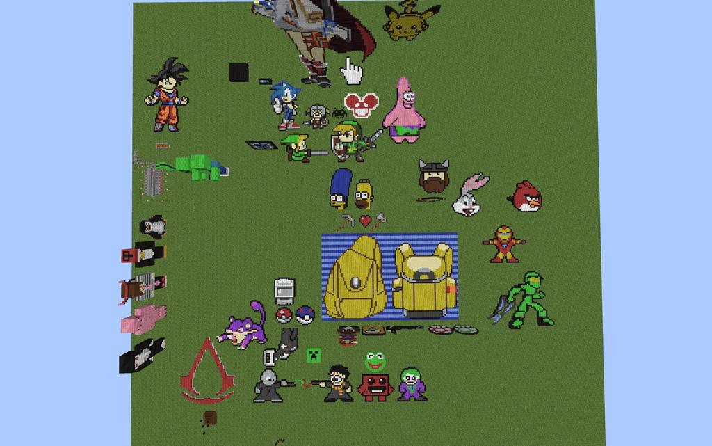 minecraft pixel art map