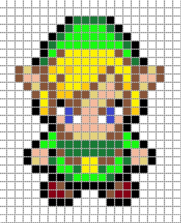 Gallery For gt Mario Pixel Art Grid