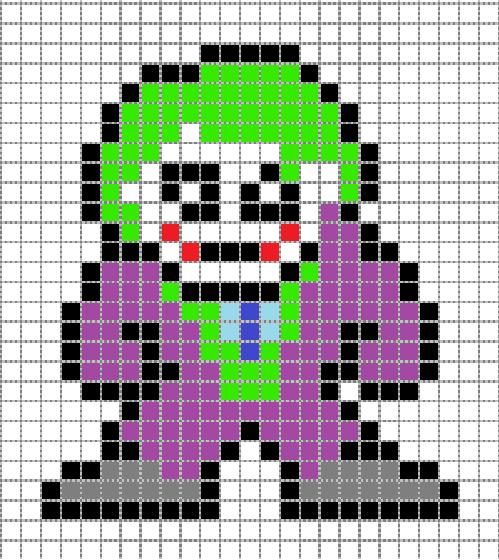 pixel art joker