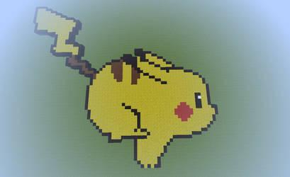 Minecraft Pikachu Pixel art by Matbox99