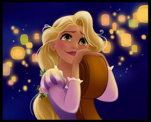 Tangled : Lights for Rapunzel by Wcean