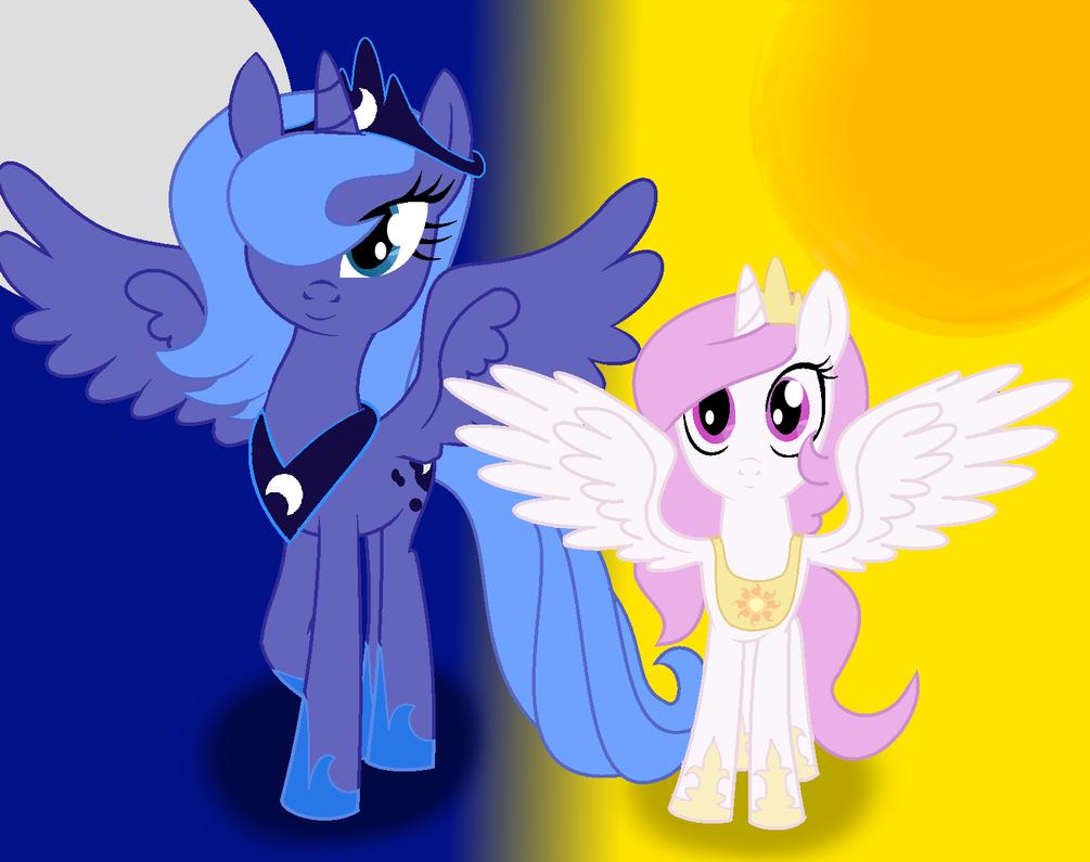 Princess Portraits~ Cadance, Celestia, and Luna by