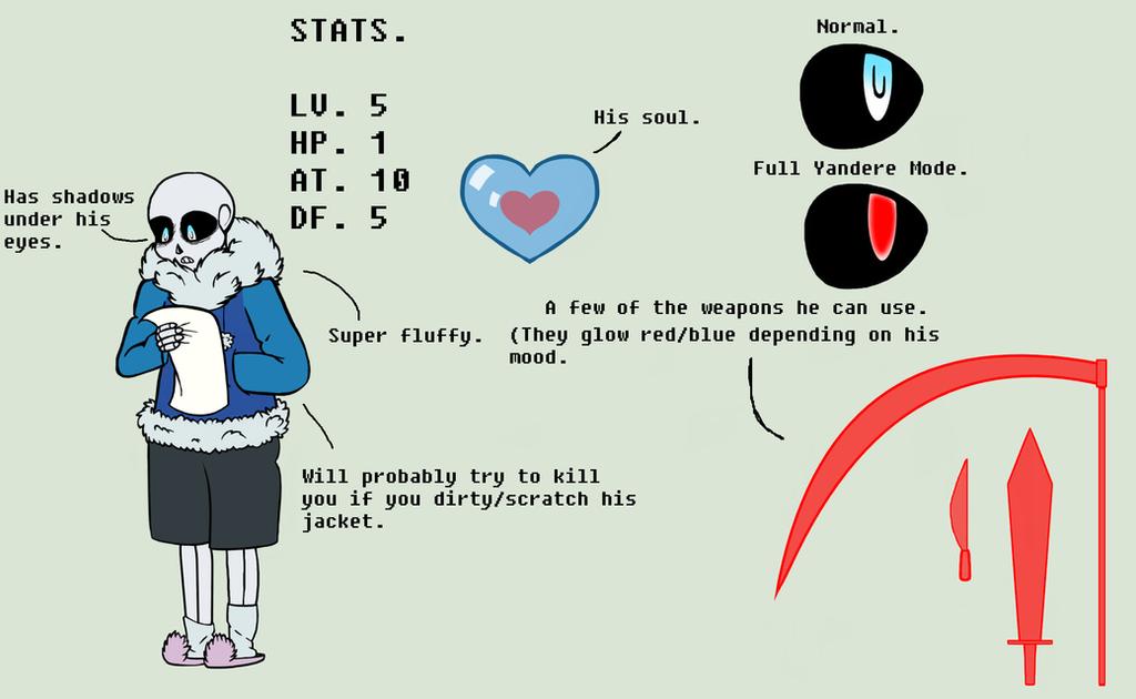 UnderBorn!Sans Character Bio by Miiv12