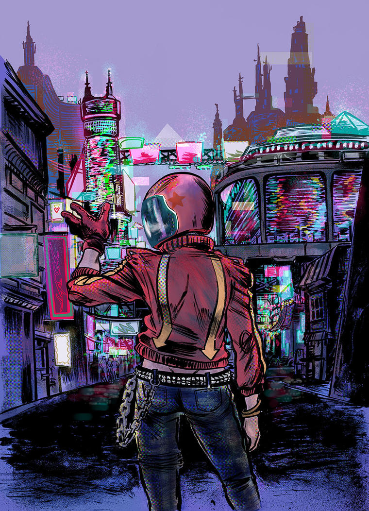 Biker Punk in color by SooDLee