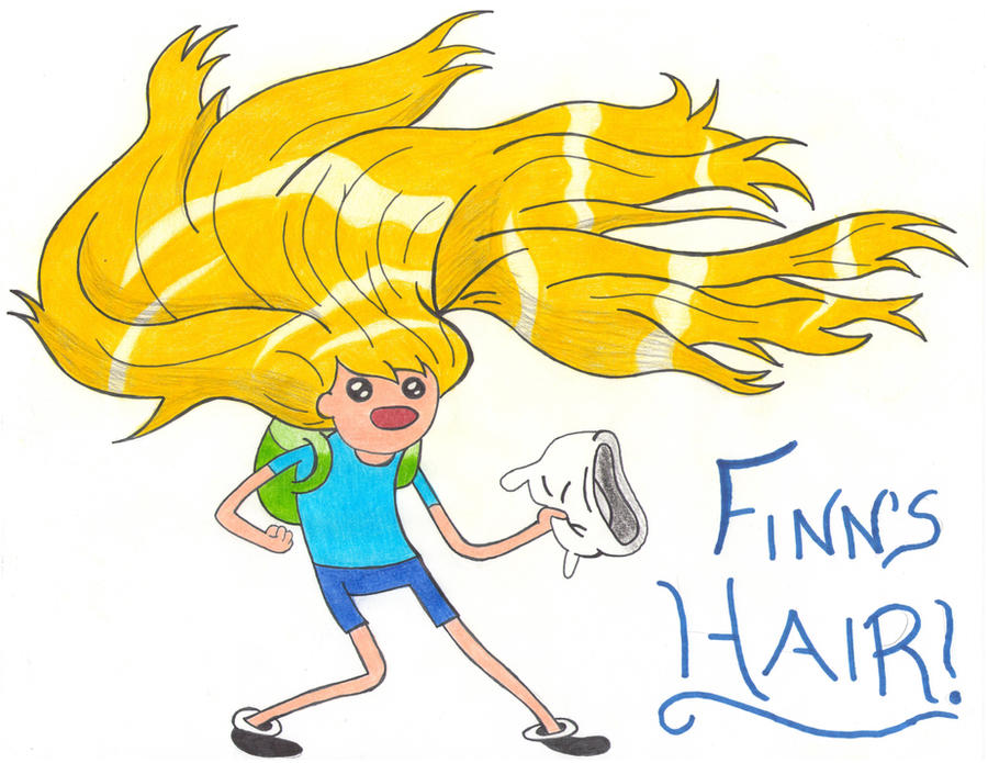 Adventure Time Finn S Hair By Wolfluvr12 On Deviantart