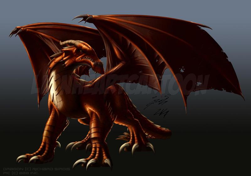 Red Dragon by Lionheartcartoon
