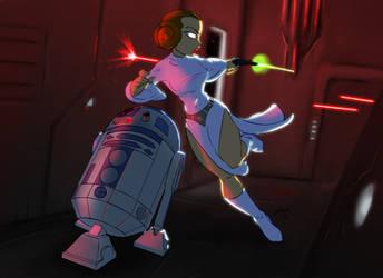 Run Leia, Run by Lionheartcartoon