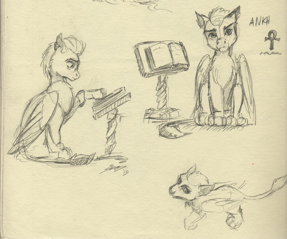 Ankh Sketches by Lionheartcartoon