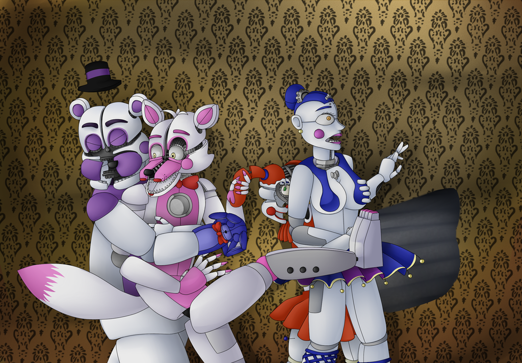 Scared servos at haunted house by luckygoldrabbit on deviantart