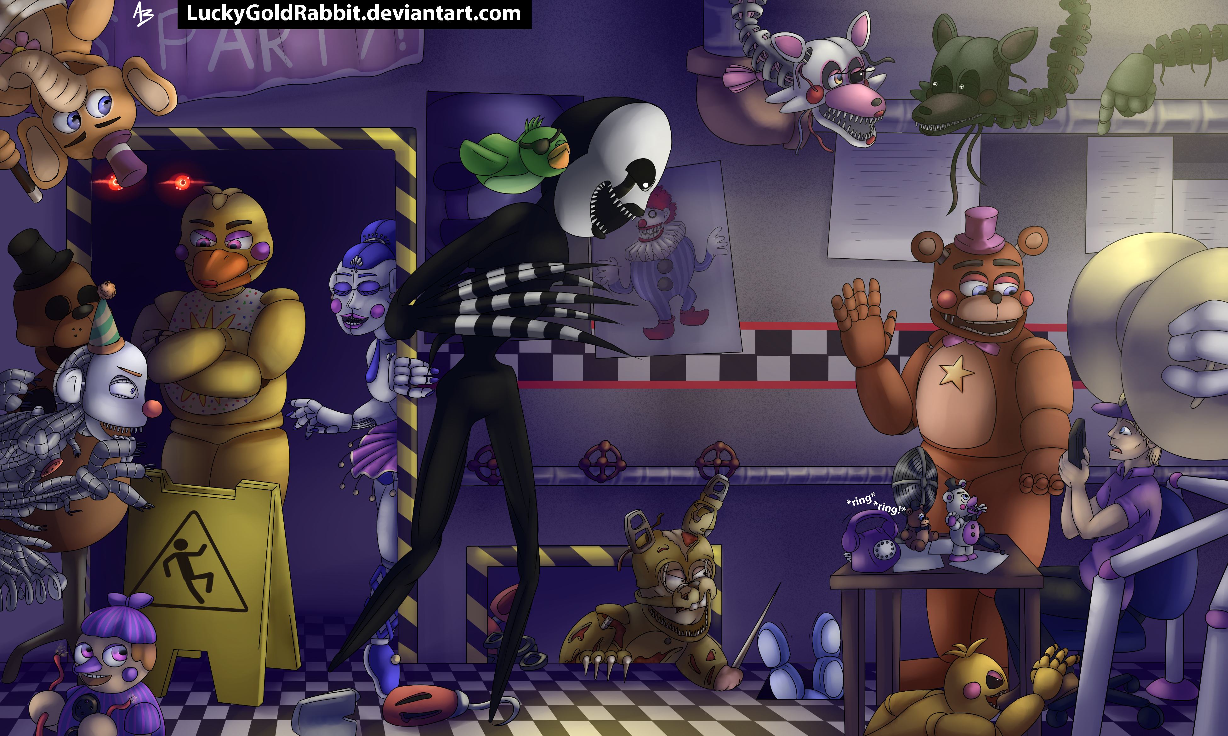 Welcome to Ultimate Custom Night by LuckyGoldRabbit on