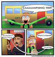 Unlicensed Camper by LuckyGoldRabbit